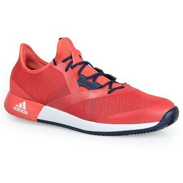 adidas adizero Defiant Bounce Mens Tennis Shoe - Trace Scarlet/White/Night Navy