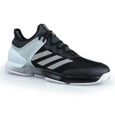 adidas adizero Ubersonic 2 Clay Mens Tennis Shoe - Core Black/White/White