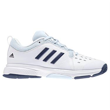 adidas Barricade Classic Bounce Womens Tennis Shoe - White/Noble Indigo/Blue Tint
