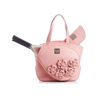 Court Couture Cassanova Rose Floral Tennis Bag - Pink