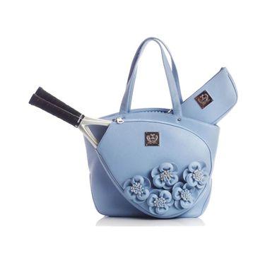 Court Couture Cassanova Rose Floral Tennis Bag - Blue