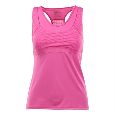 Lucky in Love Core Double Up Racerback Tank - Pink Berry