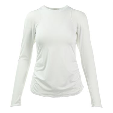 Lucky in Love Basic Long Sleeve Athletic Crew - White
