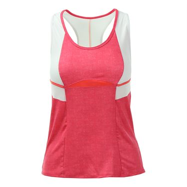 Lucky in Love Summer Lovin Colorblock Racerback Tank - Hibiscus