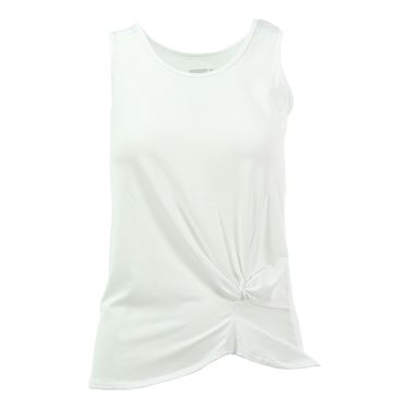 Lucky in Love Core Do the Twist Pindot Tank - White