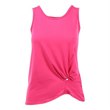 Lucky in Love Core Do the Twist Pindot Tank - Spark Pink