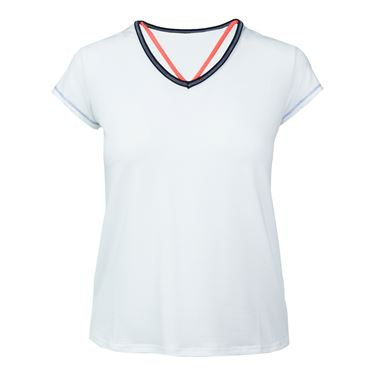 Lucky in Love Vantage Short Sleeve Lacey V Neck - White