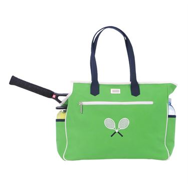 Ame & Lulu Crossed Racquet Tennis Court Bag - Green CTBGN
