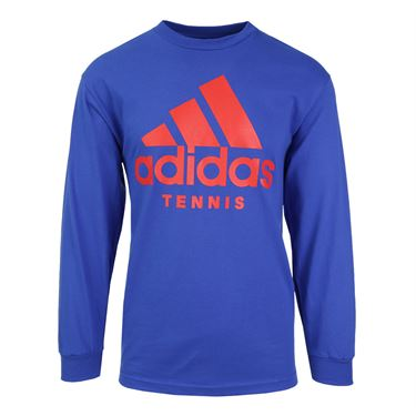 adidas Tennis Flushing Meadows Long Sleeve Tee - Royal