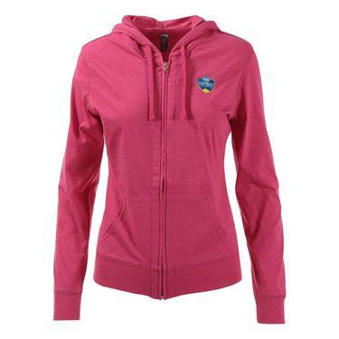 W&S Open Full Zip Cotton Jacket - Dark Fuschia Heather
