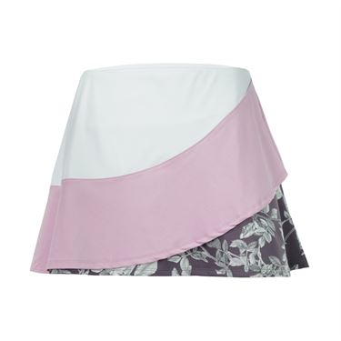 Eleven Datura Triple Threat 14 Inch Skirt - White/Pink/Print