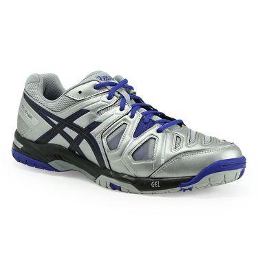 Asics Gel Game 5 Mens Tennis Shoe - Silver/Black/Asics Blue
