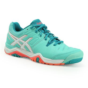Asics Gel Challenger 10 Womens Tennis Shoe - Cockatoo/White/Coral