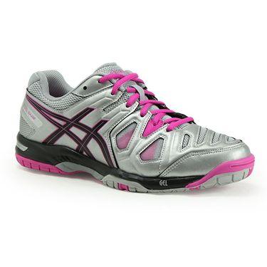 Asics Gel Game 5 Womens Tennis Shoe - Silver/Black/Pink Glow