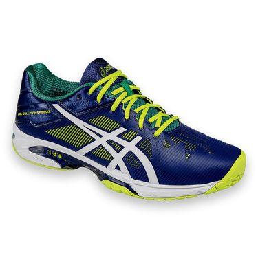 Asics Gel Solution Speed 3 Mens Tennis Shoe - Indigo/White/Lime