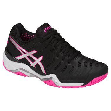 Asics Gel Resolution 7 Womens Tennis Shoe - Black/Silver/Hot Pink E751Y 9093