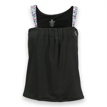 AdEdge Tennis Tank - Black/Chiclet Print