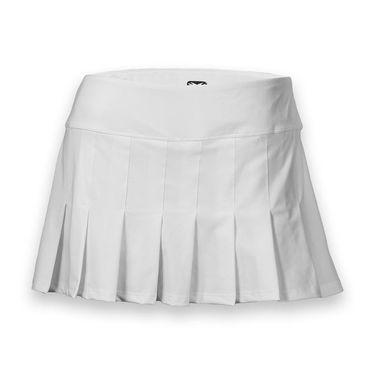 Eleven 14.5 Inch Flutter Skirt - White