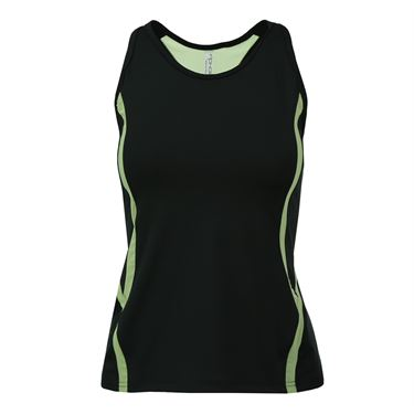 Inphorm Marcela Tank - Black/Lime