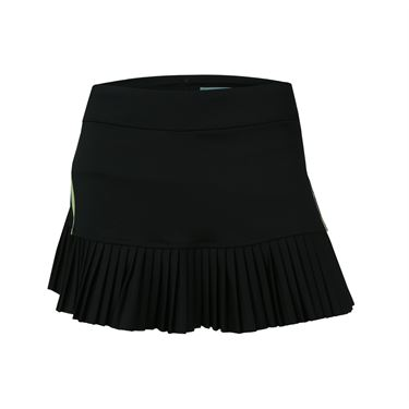 Inphorm Finley Pleated Skirt - Black/Lime
