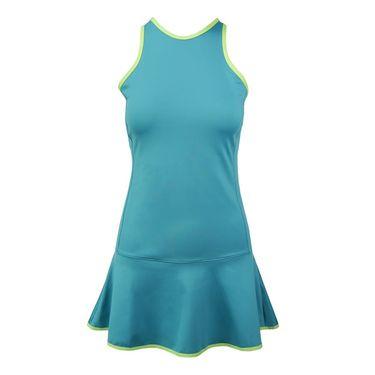 Inphorm Larissa Dress - Teal/Lime