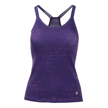 Solfire Ombre Tangram Double Up Tank - Acai