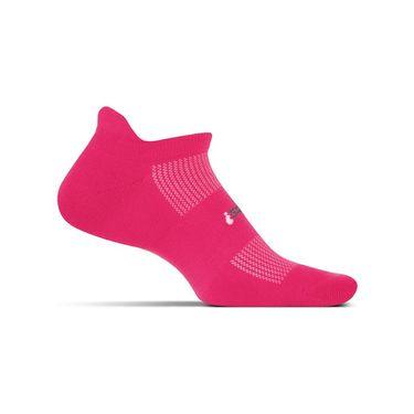 Feetures No Show Tab Sock - Deep Pink