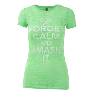 Love All Forget Calm And Smash It Top - Neon Green