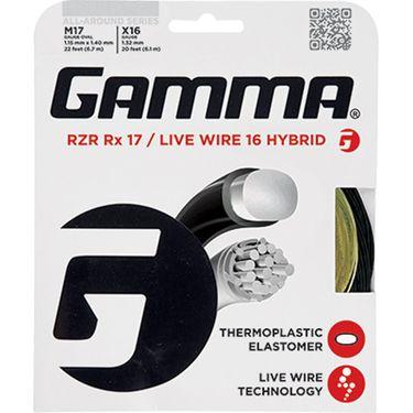 Gamma RZR Rx 17/Live Wire 16 Hybrid Tennis String