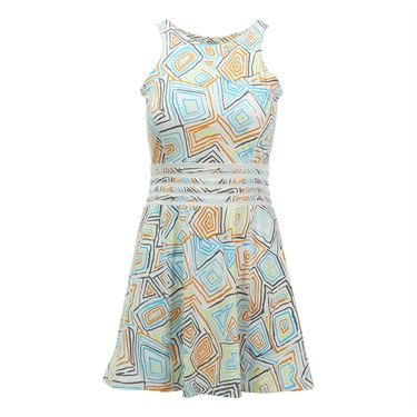 Eleven Geo Swirl Printed Miami Open Dress