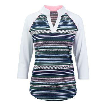 Jofit Paloma Victory Raglan 3/4 Sleeve Top - Aurora Stripe