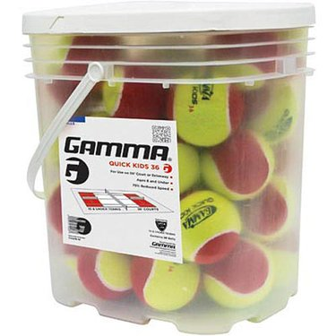 Gamma Quick Kids 36 Tennis Ball 36 Ball Bucket