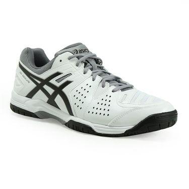 Asics Gel Dedicate 4 Mens Tennis Shoe - White/Black/Aluminum