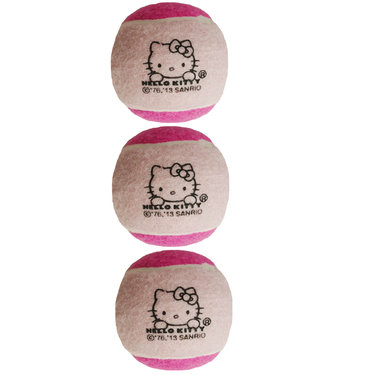 Hello Kitty Pressureless Tennis Ball 3 pack