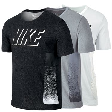 Nike Dri Fit Cotton Static Block Training Tee