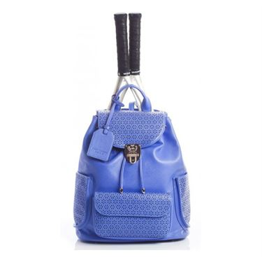 Court Couture Hampton Perforated Tennis Back Pack - Blue