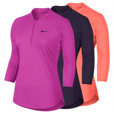 Nike Court Dry 3/4 Sleeve 1/4 Zip