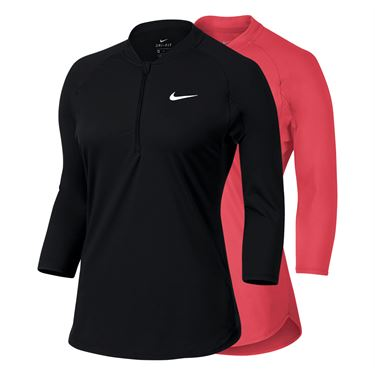 Nike Court Dry 3/4 Sleeve 1/4 Zip