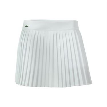 Lacoste Technical Solid 13.5 Inch Pleated Skirt - White