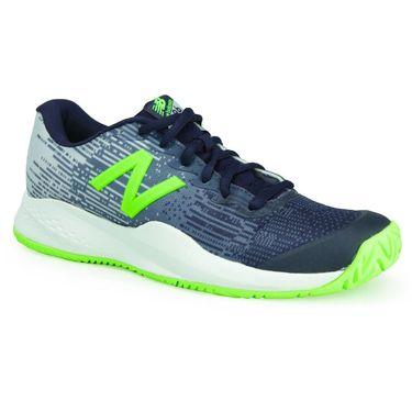 New Balance KC996GN3 Junior Tennis Shoe - Pigment/Light Cyclone