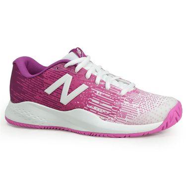 New Balance KC996 Junior Tennis Shoe - White/Pink