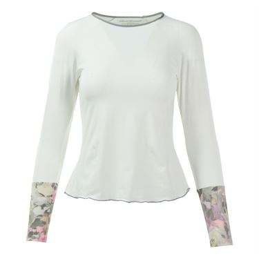 Denise Cronwall Wyn Long Sleeve Top - White