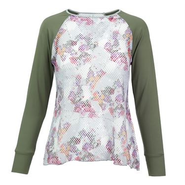 Denise Cronwall Army of Lovers L/S Sheer Shirt - Green