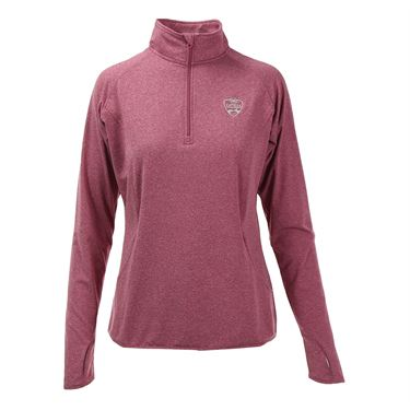 W&S Open 1/4 Pullover - Pink Rush Heather
