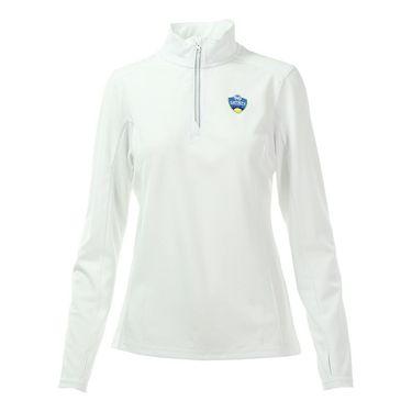 W&S Open 1/4 zip Pullover - White