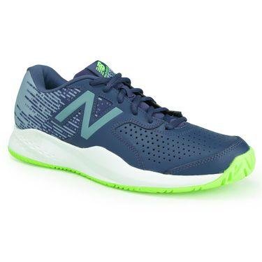 New Balance MC696PI3 (D) Mens Tennis Shoe - Pigment/Energy Lime