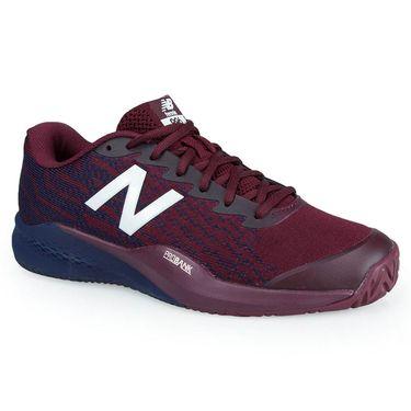 New Balance MCH996O3 (2E) Mens Tennis Shoe - Maroon/Navy