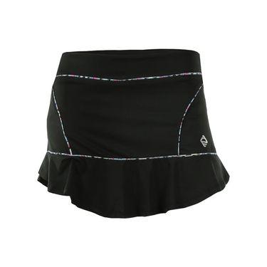 AdEdge Split Hem Skirt - Black/Tribal Print