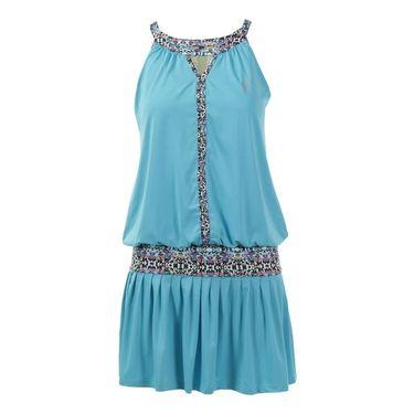 AdEdge Loose Fit Keyhole Dress - Sky/Tribal Print