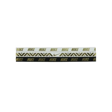 Nike Metallic Hairbands - 3 Pack White/Black